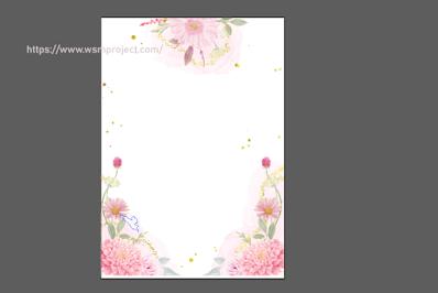 background-undangan-pernikahan-bunga-png