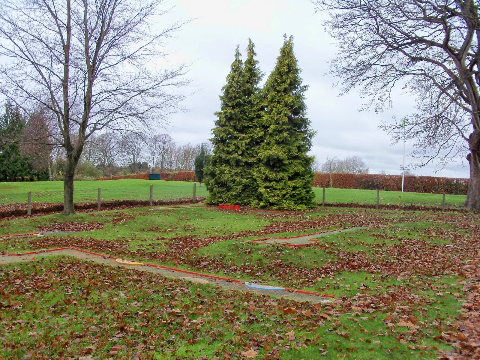 An Autumn/Winter look to the Crazy Golf course Wardown Park, Luton in November 2011
