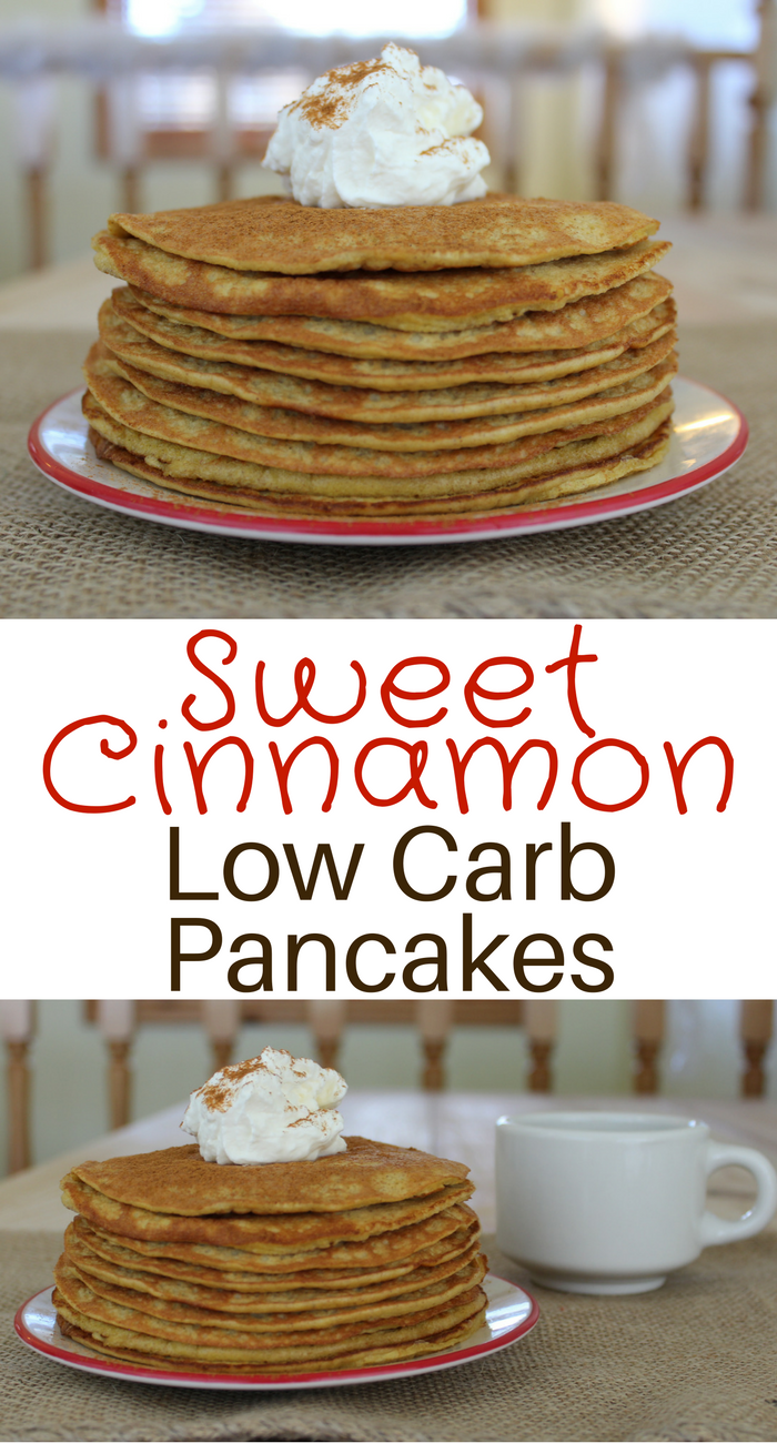 Sweet Cinnamon Low Carb Pancakes