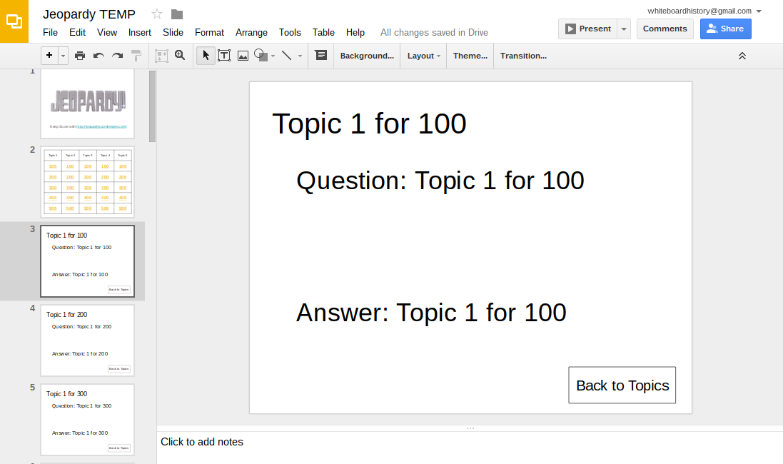 2 Insert A Table For Topics