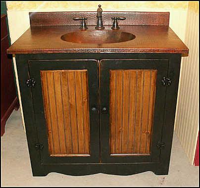 country style wood bathroom vanity design tips furniture. Black Bedroom Furniture Sets. Home Design Ideas