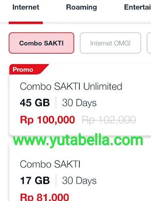 paket unlimited Telkomsel 45GB 100k