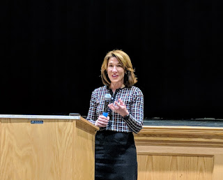 Lt. Gov. Karyn Polito spoke at FHS 4/29/2019 about sexting legislation