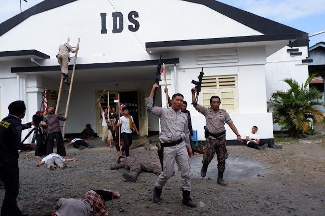 Memperingati HUT RI Ke-74 Polres Lumajang Buat Film Sejarah Perjuangan Iptu Jama'ari Ketika Merebut Kemerdekaan