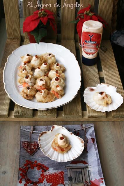 Vieiras en tempura