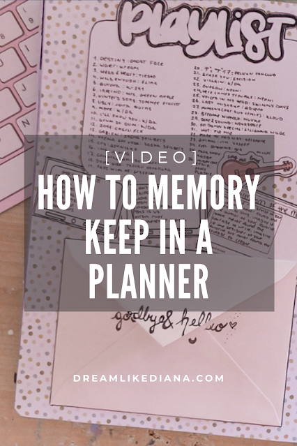 How to memory keep in a planner