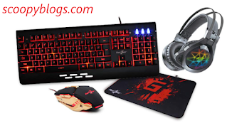 Keyboard, Mouse, Headphones for Gaming PC