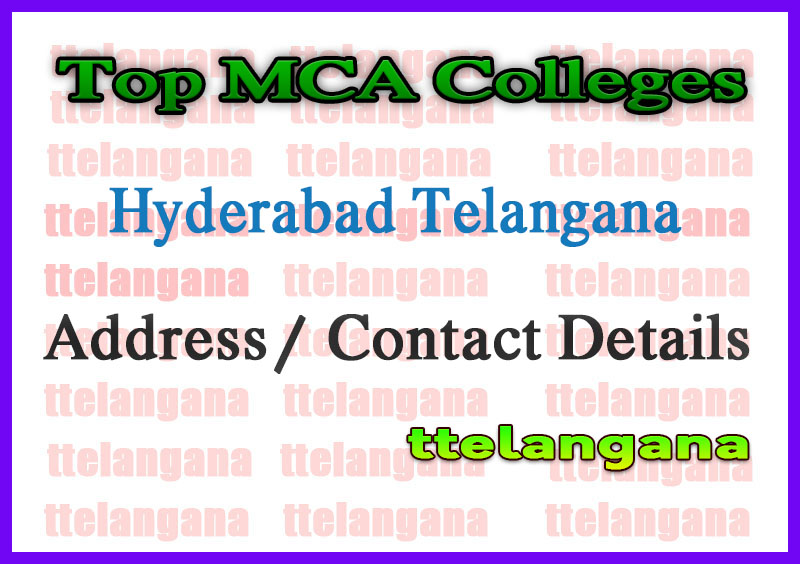 Top MCA Colleges in Hyderabad Telangana