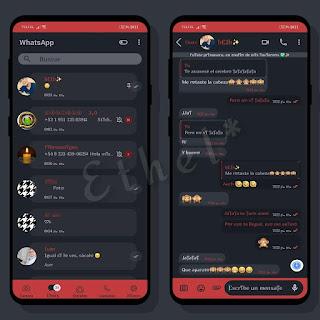 Opaque Red Dark Theme For YOWhatsApp & Aero WhatsApp By Ethel