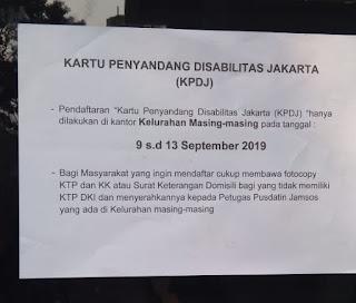 Syarat Daftar Kartu Penyandang Disabilitas Jakarta