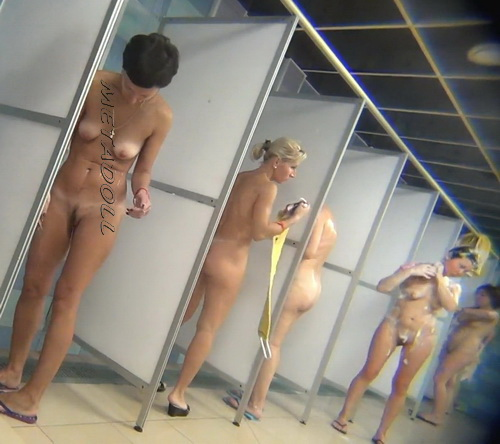 Hidden cam in the shower room for ladies (Hidden Camera Public Shower 25-34)