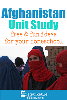 This Afghanistan unit study is packed with activities, crafts, book lists, and recipes for kids of all ages! Make learning about Afghanistan in your homeschool even more fun with these free ideas and resources. #Afghanistan #homeschool