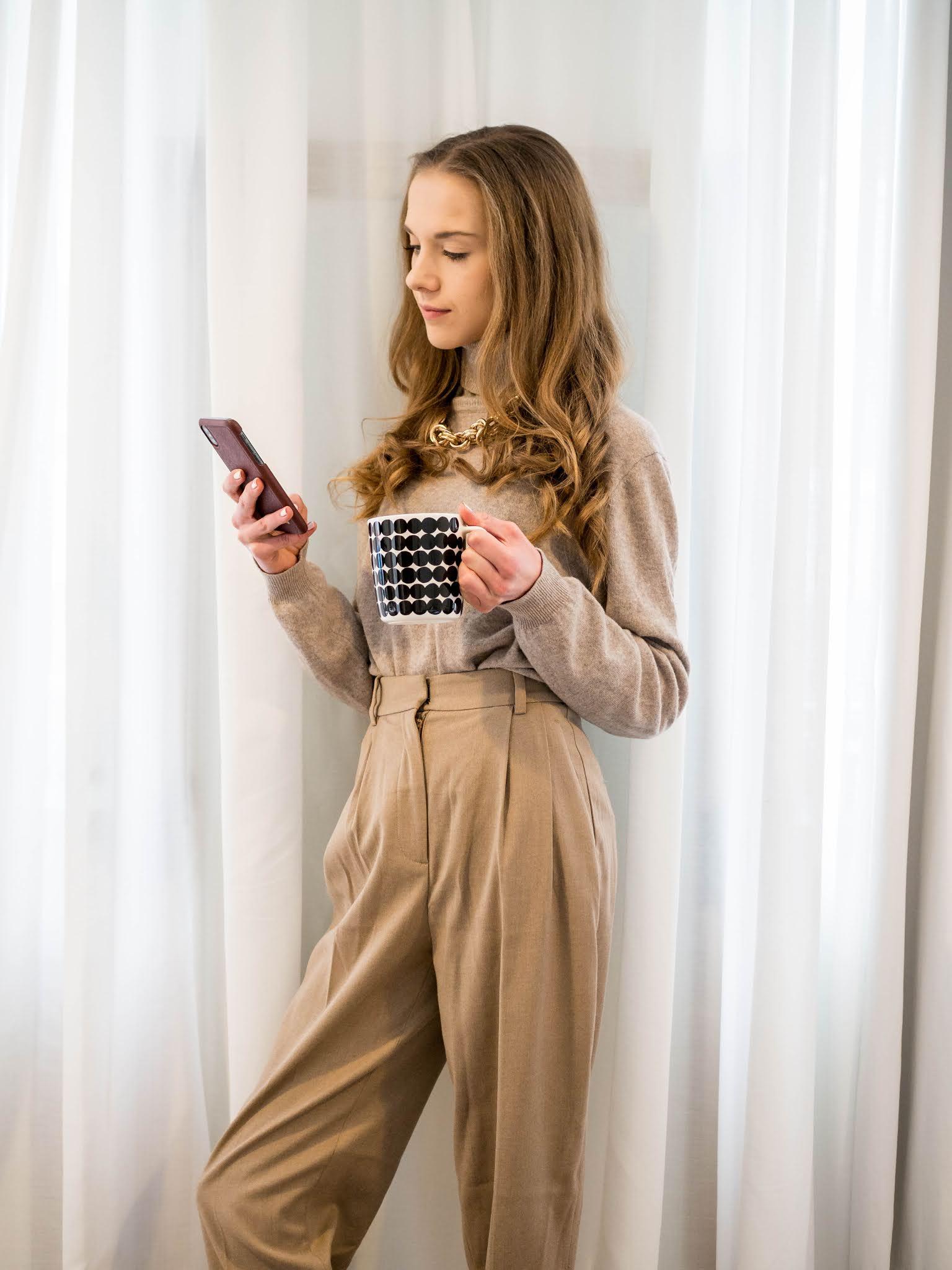 Inspiraatiota talvityyliin: yksivärinen pukeutuminen // Winter style inspiration: tonal dressing