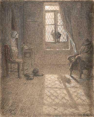 Жан Франсуа Милле - Кошка, ставшая женщиной