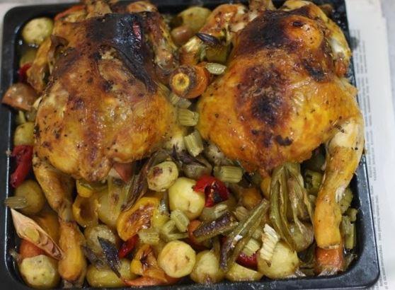 ayam bakar simple, resepi ayam panggang, cara mudah masak ayam
