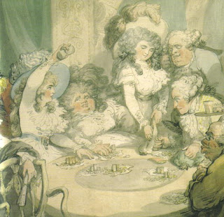 Duchess of Devonshire and her sister at the gaming table, Devonshire house, 1791.