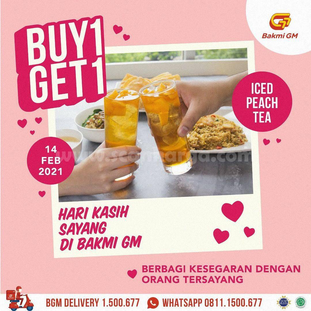 Promo VALENTINE BAKMI GM! BUY 1 GET 1 FREE Iced Peach Tea
