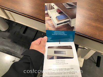 Costco 1900104 - Bayside Furnishings by Whalen Writing Desk for working on the computer, paying bills, or doing homework