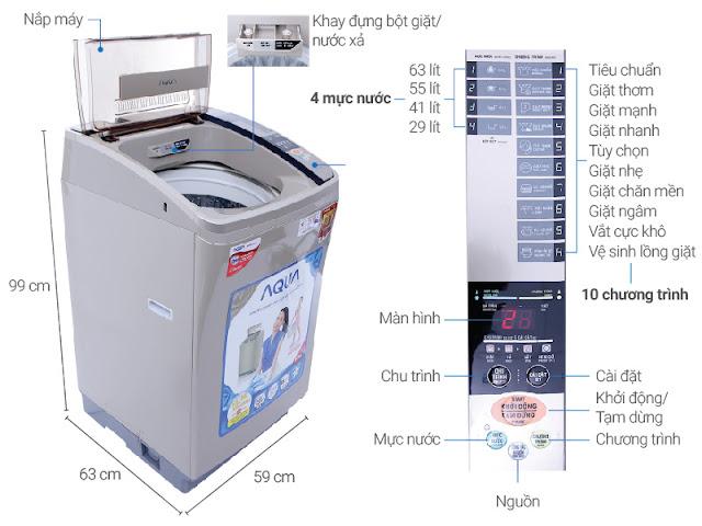 Máy giặt AQUA AQW-U800AT