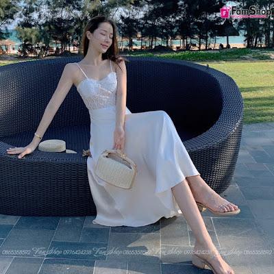 Váy maxi đi biển V372