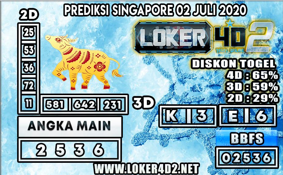 PREDIKSI TOGEL SINGAPORE LOKER4D2 02 JULI 2020