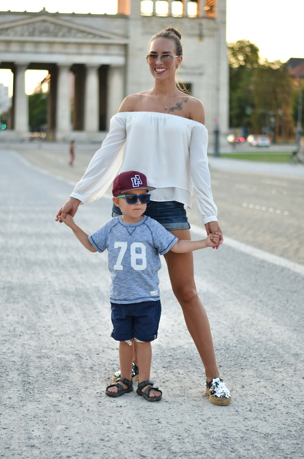 kristjaana mere toddler mommy matching summer outfit style munich