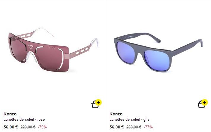 043c614bb1c12c Cultiver votre exubérance avec les lunettes de soleil Kenzo vendues ce  matin chez Brandalley. Le site propose dans la même vente, des exemplaires  Bailly (74 ...