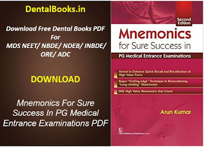 Mnemonics For Sure Success In PG Medical Entrance Examinations PDF