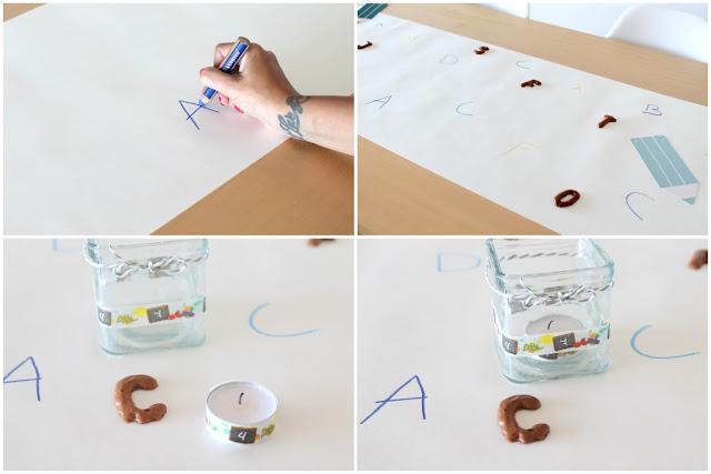 Tischdeko DIY Einschulung Schulanfang Ideen Schultuete Zuckertuete Jules kleines Freudenhaus
