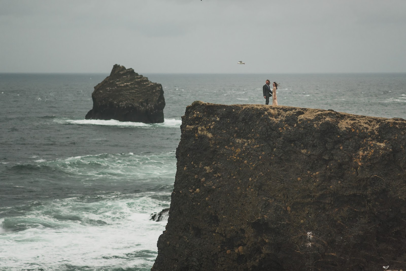 Cliffside Elopement in Iceland