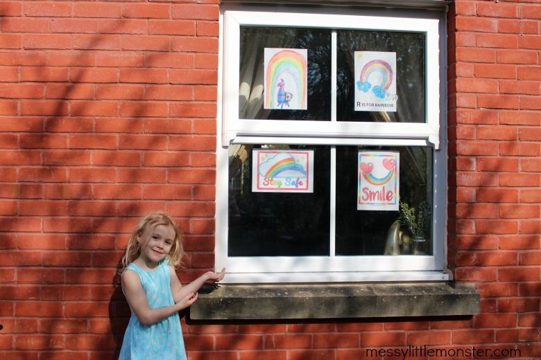rainbow colourings for hope and positivity in windows