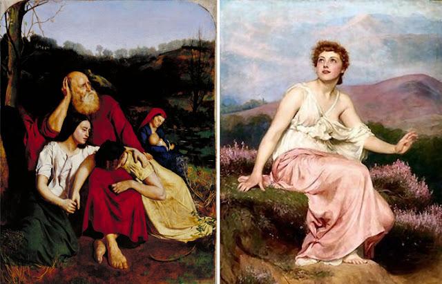 """Obras de Philip Hermogenes Calderon: """"Pelas Águas da Babilônia"""" (1852) / """"Manhã"""" (1884)"""