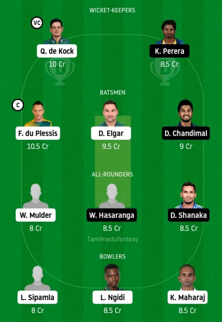 Sa vs sl dream11 Prediction