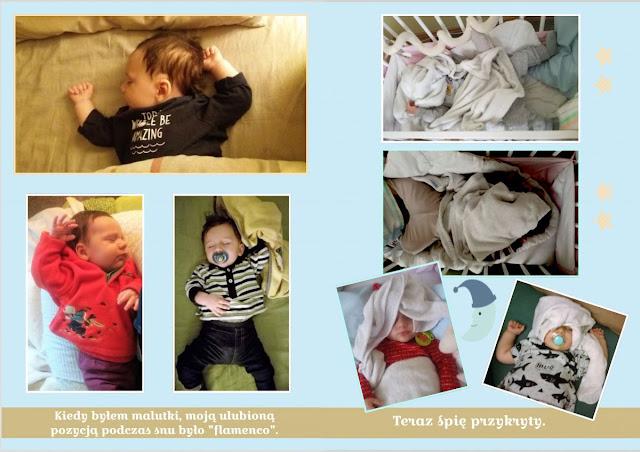 sen niemowlęcia różne pozycje