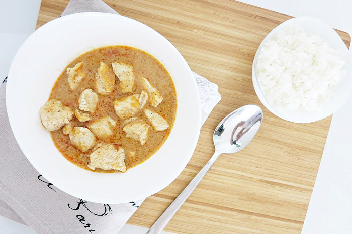 Red Thai Curry + Reishunger