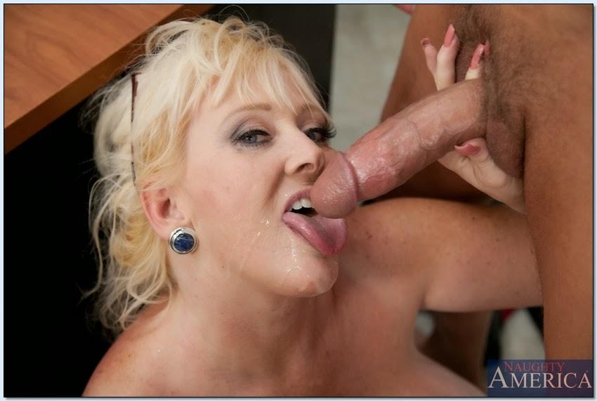 в в рот толстую блондинку что