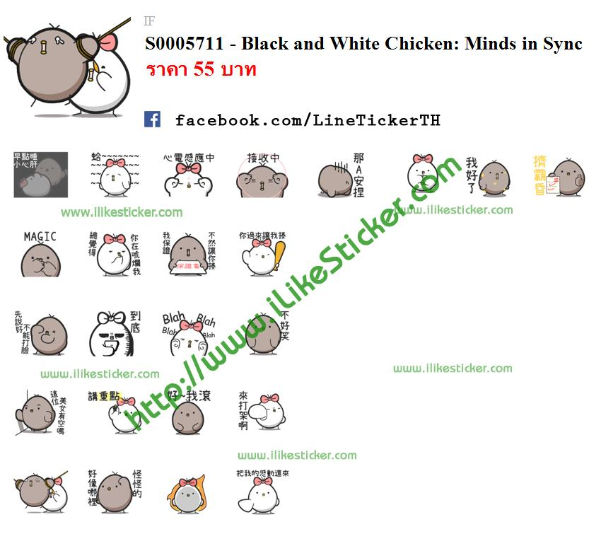 Black and White Chicken: Minds in Sync