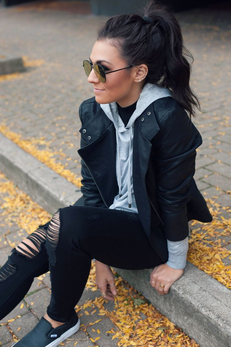 #Ripped #Jeans #Outfit Ripped Jeans Outfit Winter 2017