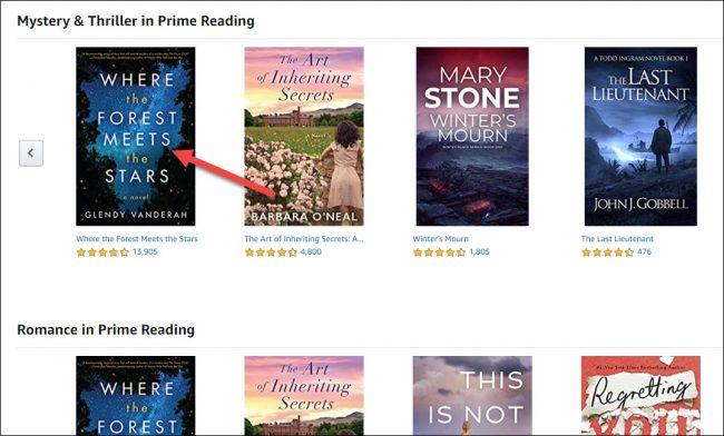"حدد كتابًا في ""Prime Reading""."