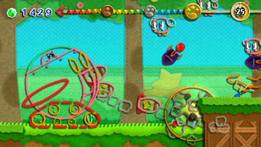 Kirby Extra Epic Yarn - เจ้าอ้วนชมพูกลายร่างเป็นไหมพรม ตะลุยดินแดนแห่งผ้า