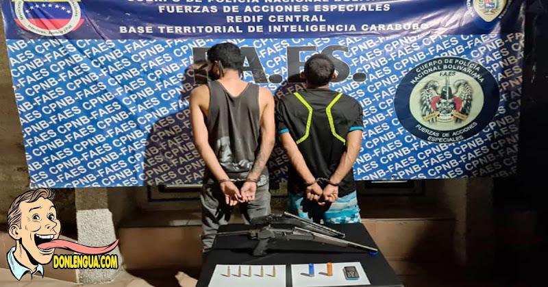 Azotes capturados en Valencia con sus armas de fuego