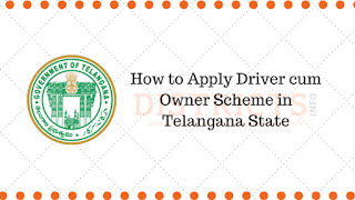 How to Apply Driver cum Owner Scheme in Telangana