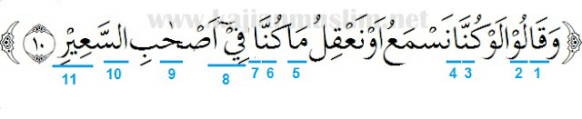 Hukum Tajwid Surat Al-Mulk Ayat 10