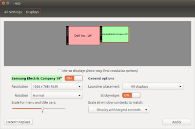 Cara Setting Dual Monitor Extended Monitor di Linux Ubuntu