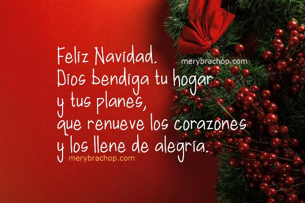 frases de bendiciones con imagen de feliz navidad tarjeta decoracion navideña por mery bracho