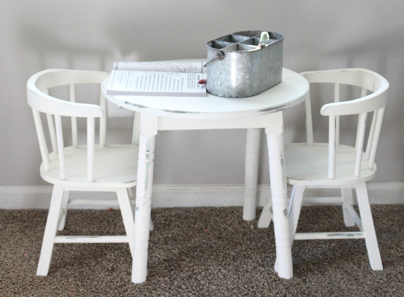 Vintage Table And Chairs Parsons Pier One Kids Makeover With Chalk Paint The Glam Even A Sander I Wasn T Able To Get Rid Of All Texture But That S Okay Just Think It Adds Chippy Vibes Don You