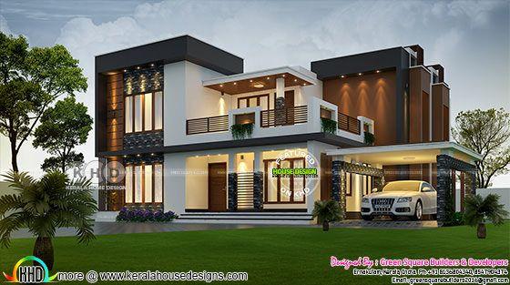 2423 square feet 4 bhk contemporary home plan
