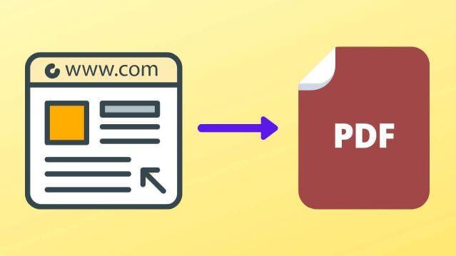 طريقة, حفظ, صفحة, ويب, كملف, PDF, على, ويندوز
