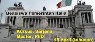 Beasiswa Pemerintah Italia untuk Pelajar Indonesia