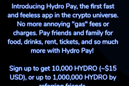 Register Hydro Get The Prize Up To 1.000.000 Tokens